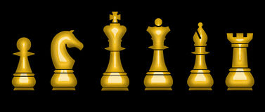 Chess. Team waiting for next move Royalty Free Stock Images