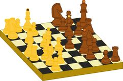 Chess. Gaming chess game (3D Royalty Free Stock Photography