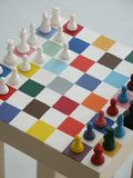 Chess. Colorful chess board Stock Photo