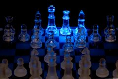 Chess. Opening spotlight Royalty Free Stock Images