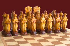 Chess. Set of the chess figures Royalty Free Stock Images