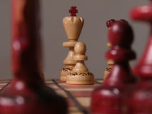 Chess. Closeup of chess board Stock Photos