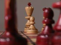Chess. Closeup of chess board stock photos