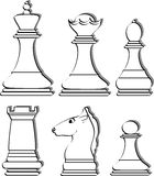 Chess. Vector illustration of a chess Royalty Free Stock Images