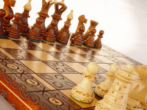 Chess. Board with figures Royalty Free Stock Photo