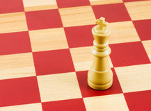 Chess. King on a  board Stock Images