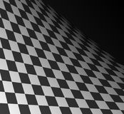 Chess. Black and white squares going into infinity Royalty Free Stock Image