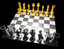 Chess. 3d render of a chess board Royalty Free Stock Image