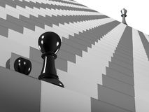 Chess. Climbing the stairs to success Stock Image