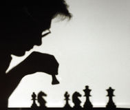 Chess. Shadowchess Royalty Free Stock Images