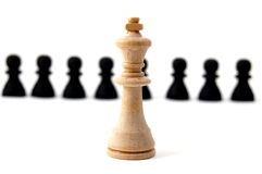 Chess. Piece isolated on white background advising to strategic behavior Stock Photo