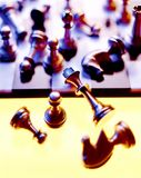 Chess. Pieces on board finished Royalty Free Stock Image