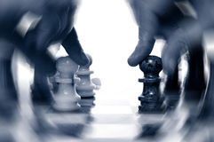 Chess action Royalty Free Stock Images