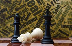 Chess against grunge background Stock Image