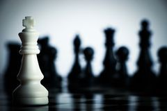 Chess against Royalty Free Stock Image