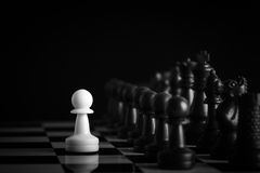 Chess against Royalty Free Stock Photography