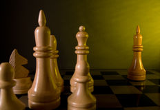 Chess aggression  game Stock Images