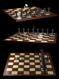 Chess allegory opposition citizen and government Royalty Free Stock Images