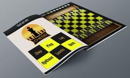 Chess app Magazine Royalty Free Stock Image