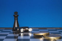 Chess as a business  Royalty Free Stock Photo
