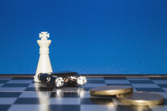 Chess as a business  Royalty Free Stock Photos