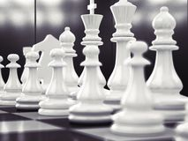 Chess as business game stock image