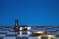 Chess as a business  Royalty Free Stock Image