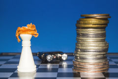 Chess as a business 4 Stock Images