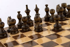 Chess atack stock photos