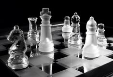 Chess B&w Stock Photography