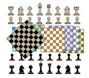 Chess Background. Beautiful chess background, nice for lessons books or web presentations.Nice wallpaper for anything to do with  kids learning to play chess Stock Images
