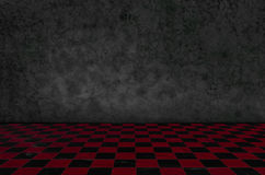 Chess background interior in a dark room and moss on wall Royalty Free Stock Photo