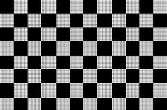 Chess background. Seamless pattern, black and white 3d texture Royalty Free Stock Photos