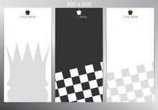 Chess banner design. Vector illustration. Chess banner for poster, flyer and web design. Vector illustration stock illustration