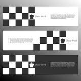 Chess banner design. Vector illustration. Chess banner for poster, flyer and web design. Vector illustration royalty free illustration
