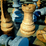 Chess battle. Defeat abstract composition Royalty Free Stock Images