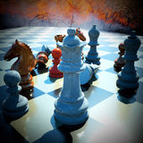 Chess battle. Defeat abstract composition Stock Images