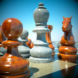 Chess battle. Defeat abstract composition Royalty Free Stock Image