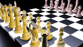 Chess battle Stock Image