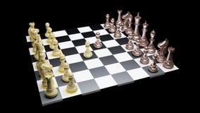 Chess battle Stock Image