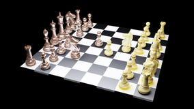 Chess battle Stock Photos