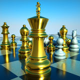 Chess battle. Is about to begin Stock Images