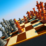 Chess battle Stock Photo