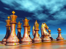 Chess battle. About to begin Royalty Free Stock Image