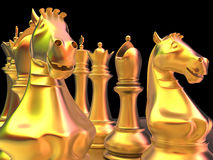 Chess battle. Is about to begin Royalty Free Stock Images