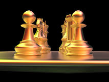 Chess battle Royalty Free Stock Photos