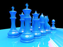 Chess battle. Is about to begin Royalty Free Stock Image