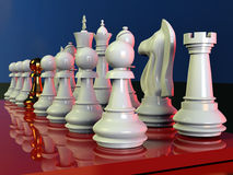 Chess battle. Is about to begin Stock Image