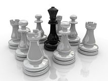 Chess battle. Background picture of chess game royalty free illustration