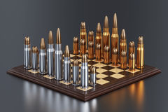 Chess battle field Royalty Free Stock Photo